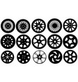 set of different rims vector image vector image