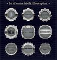 set of vintage metal design elements vector image vector image