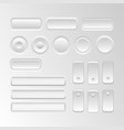 set user interface elements vector image