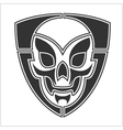 skull riders shield vector image vector image