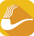 Smoke Pipe Icon vector image