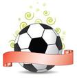 soccer ribbon vector image vector image