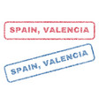 spain valencia textile stamps vector image vector image