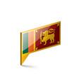 sri lanka flag on a white vector image