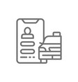 taxi service application line icon isolated vector image