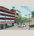 tokio cityscape tokyo street vector image vector image