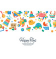 toy set for babies banner card vector image vector image