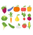 vegetables in simple minimalism style vector image vector image