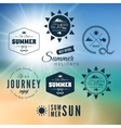 Vintage summer holidays typography design vector image