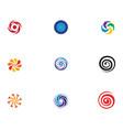 vortex logo and symbol vector image vector image