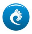 wave ocean icon blue vector image