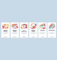 web site onboarding screens gradient vector image