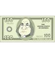 100 cartoon American dollar vector image