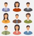 avatar set front portrait office employee business vector image