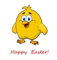 Happy cartoon Easter little chick vector image