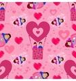 Lovers n balloon seamless pattern Valentine s vector image