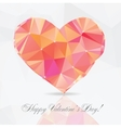 Polygon Heart - vector image