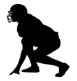 american football player in action silhouette vector image vector image