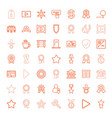 badge icons vector image vector image
