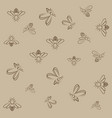 bee lines pattern on brown background vector image vector image