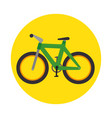 bicycle transport icon graphic vector image vector image