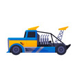 blue turbo truck fast heavy sport vehicle flat vector image vector image