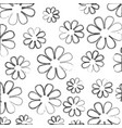 blurred silhouette sketch decorative pattern vector image