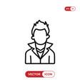 boy icon vector image vector image