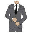 business man in suit and tie vector image vector image