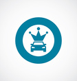 car crown icon bold blue circle border vector image vector image