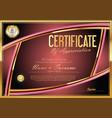 certificate retro design template 07 vector image vector image