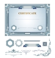 Certificate with design elements vector image vector image
