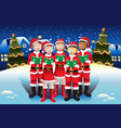 children singing in christmas choir vector image vector image