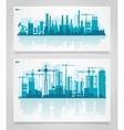 City Skyline Sets vector image