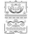 collection luxury borders and ornaments vector image vector image