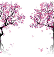 Colorful abstract blooming trees vector image