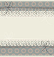 cute lace frame with decorative flowers vector image vector image