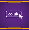domain co uk icon top-level internet vector image vector image