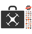 drone case icon with love bonus vector image vector image