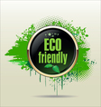 Eco friendly grunge banner vector image vector image