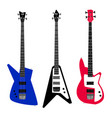 electric guitar set vector image vector image