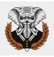 elephant framed by laurel vector image