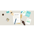 expert advice flat concept vector image