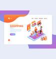 family online shopping website vector image