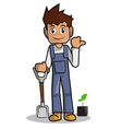 farmer cartoon vector image vector image