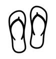 flip flops sandal beach wear line art icon vector image vector image