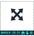 Four arrows icon flat vector image vector image