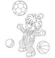funny clown playing with balls vector image vector image