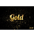 gold splashes texture or glitters pattern vector image vector image