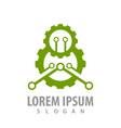 green industrial gear concept design symbol vector image vector image
